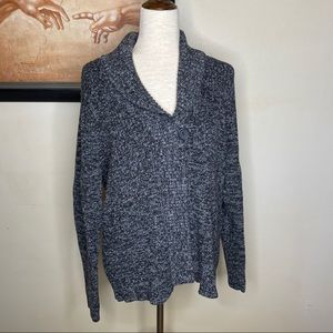 Sonoma Black and Grey Sweater One button Cardigan